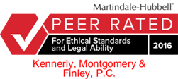 Kennerly Montgomery is LexisNexis Peer Review Rated for Ethical Standards and Legal Ability